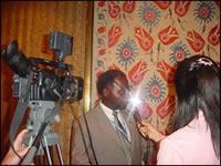 Interview d'Albert Konan-Koffi par la Télévision Asiatique,  consacrée aux Communes des Nations  pour la Paix.