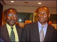 Albert Konan-Koffi avec Monsieur Goodluck DJIIGBO