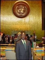 Albert KONAN-KOFFI dans la Salle des Nations-Unies.