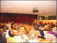 Aspect de la salle de Conférence n°6 des Nations Unies