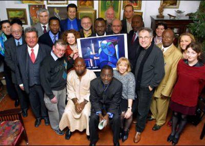 L'équipe de l'Observatoire International pour la Non Violence,
