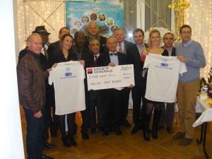 Course pour la Paix 2013: Remise de chèque